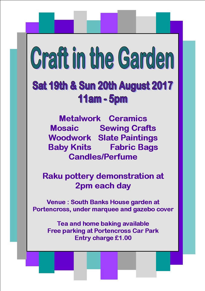 Craft in teh garden 2017
