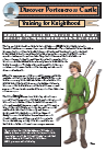 Training for the knighthood children's worksheet image