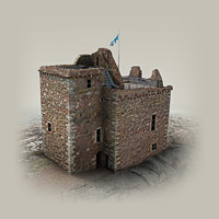 This illustration shows how Portencross Castle looks today